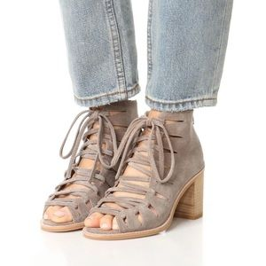 Jeffery Campbell Corwin Lace Up Gray Suede